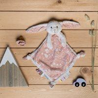 Kuscheltuch Hase Adventure Pink