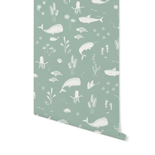 Picture of Non-Woven Wallpaper Ocean Mint