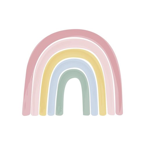 Papier peint intissé Rainbow Pink