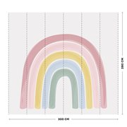 Picture of Digital non-woven wallpaper Rainbow Pink