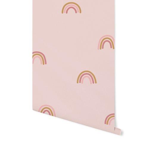 Afbeelding van Vliesbehang Little Rainbows Pink