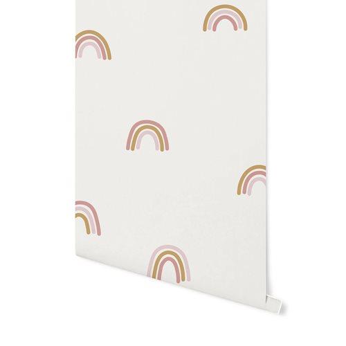 Afbeelding van Vliesbehang Little Rainbows White