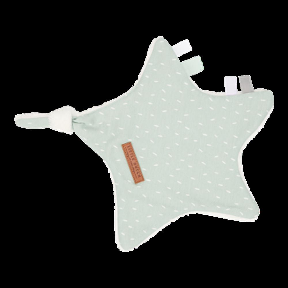 Kuscheltuch Stern Sprinkles Mint