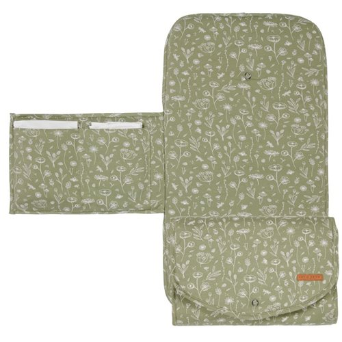 Picture of Changing pad Wild Flowers Olive