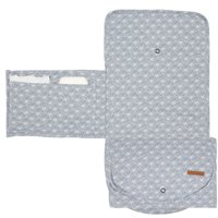 Picture of Changing pad comfort Lily Leaves Blue