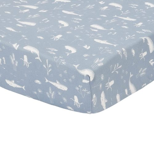 Picture of Fitted cot sheet Ocean Blue