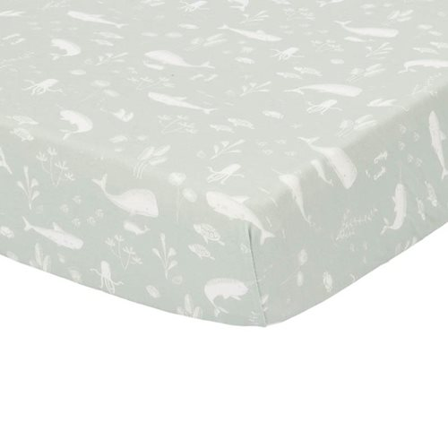 Picture of Fitted cot sheet Ocean Mint