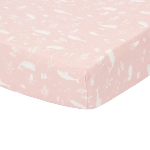 Drap-housse 70x140/150 Ocean Pink