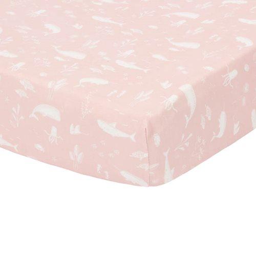 Afbeelding van Hoeslaken wieg Ocean Pink