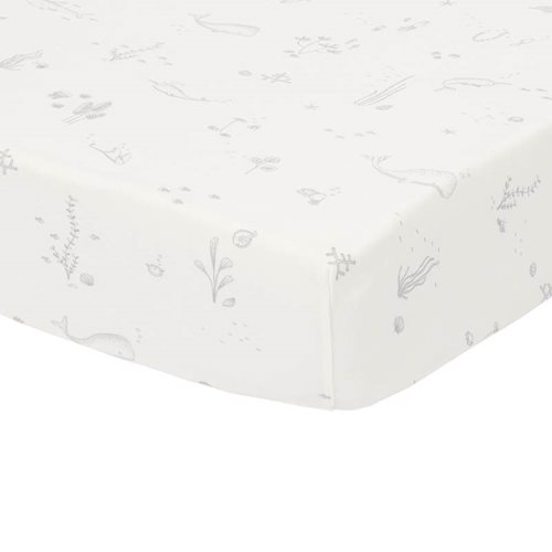 Picture of Fitted cot sheet Ocean White