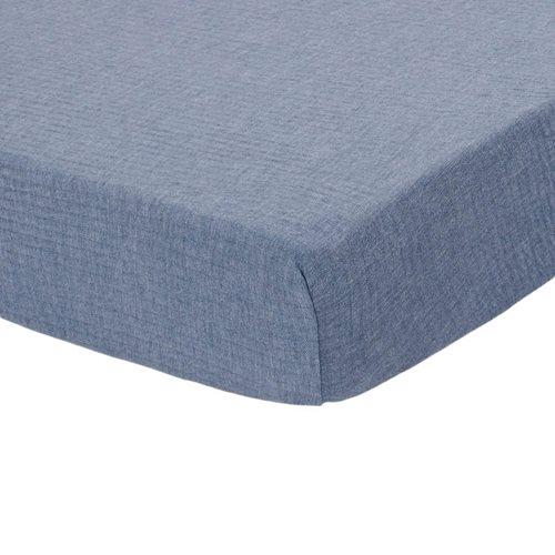Afbeelding van Hoeslaken wieg Pure Blue