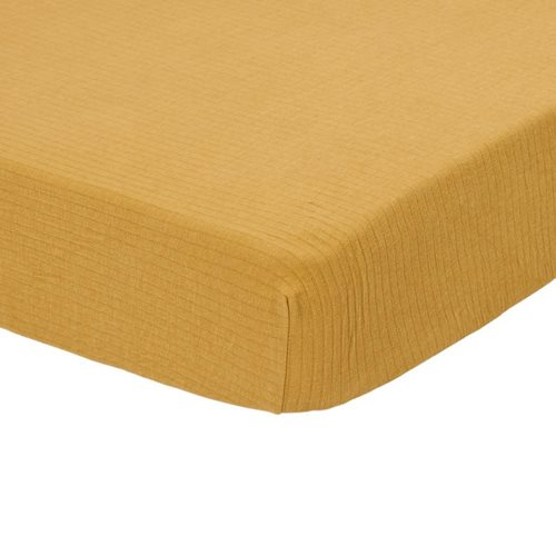 Picture of Fitted cot sheet Pure Ochre