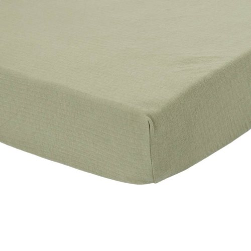 Picture of Fitted cot sheet Pure Olive