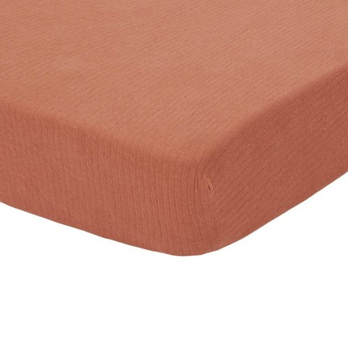 Picture of Fitted cot sheet Pure Rust