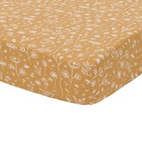 Picture of Fitted sheet 70x140/150 Wild Flowers Ochre