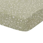 Picture of Fitted bassinet sheet Wild Flowers Olive