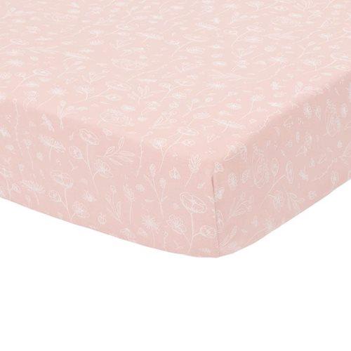 Spannbetttuch Kinderbett Wild Flowers Pink