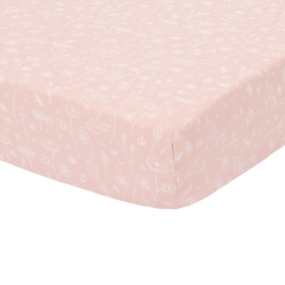 Picture of Fitted bassinet sheet Wild Flowers Pink