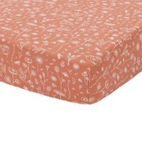 Picture of Fitted bassinet sheet Wild Flowers Rust
